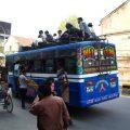 Riding a bus
