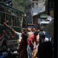 Bus station in Kathmandu